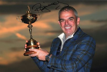 Paul McGinley, Ryder Cup 2014 Gleneagles, signed 12x8 inch photo.
